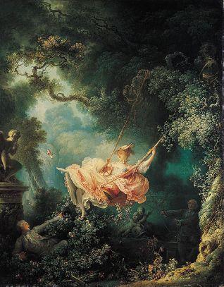 Jean Honore Fragonard - Les Hazard Heureux d'une jeune escarpolette