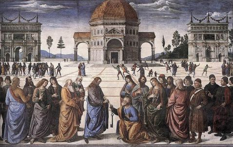 Perugino - Petrus ontvangt de Hemelsleutel