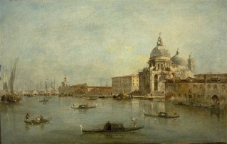 Guardi - de Ingang van het Canal Grande