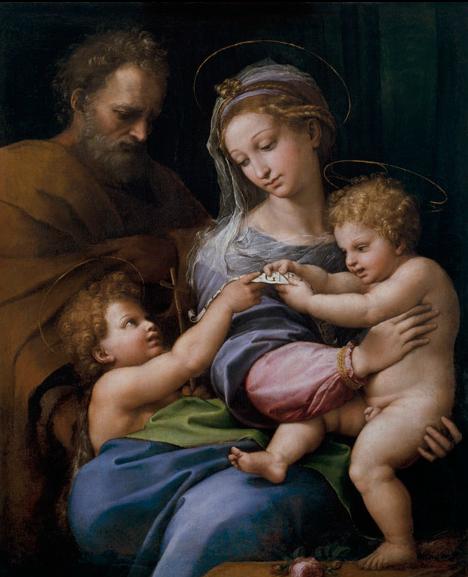 Rafael - de Heilige Familie met Johannes de Doper