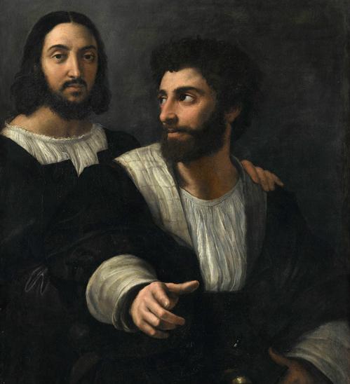 Rafael - Zelfportret met Giulio Romano