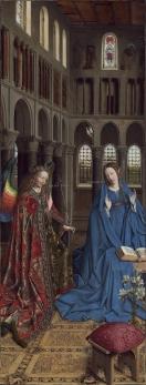 Jan van Eyck, Annunciatie,ca. 1430-1435.
