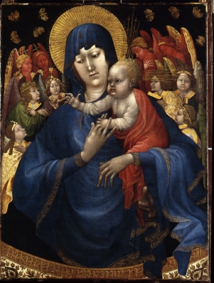 Johan Maelwael (?), Madonna met engelen en vlinders (Vlindermadonna), ca. 1410.