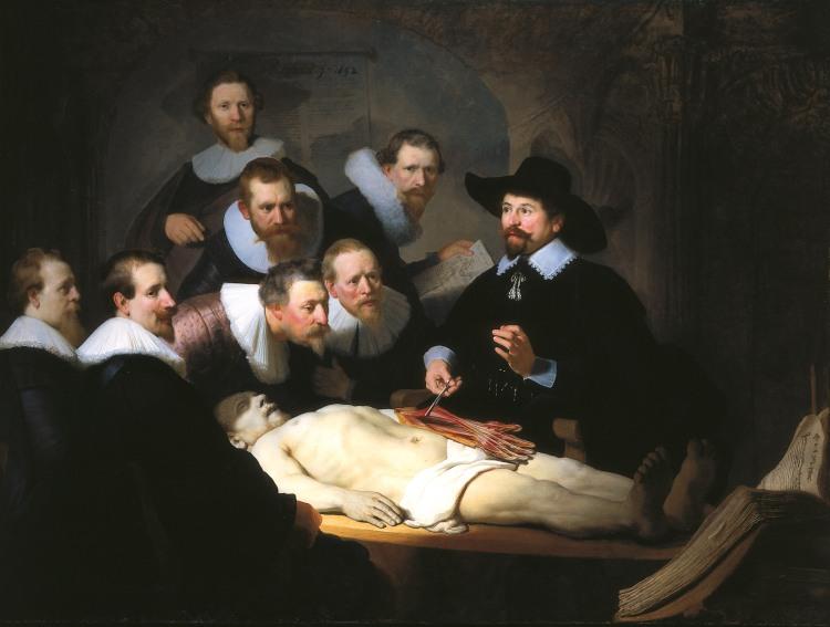 de Anatomische Les van Nicolaes Tulp - Rembrandt van Rijn