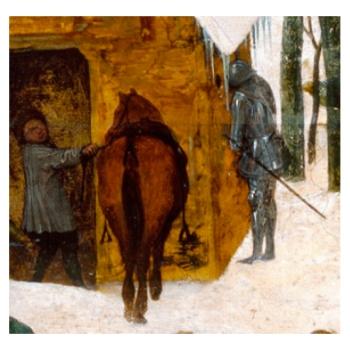 De Kindermoord van Bethlehem (detail - Pieter Bruegel - de Oudere