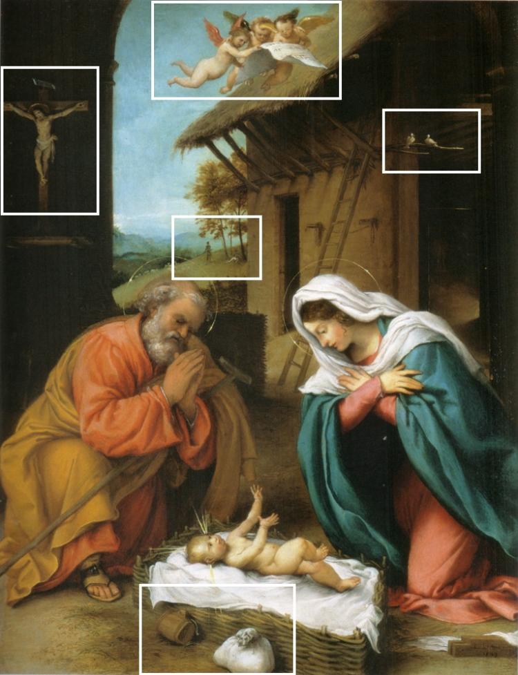 Lorenzo Lotto - de Geboorte van Jezus