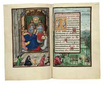 Fragment uit het Rothschild Gebedenboek