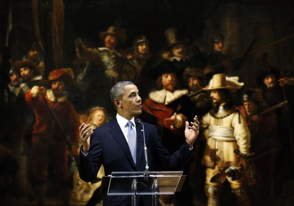 Obama in het Rijksmuseum