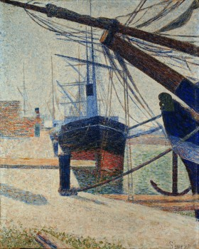 Georges Seurat - Coin d'un bassin à Honfleur