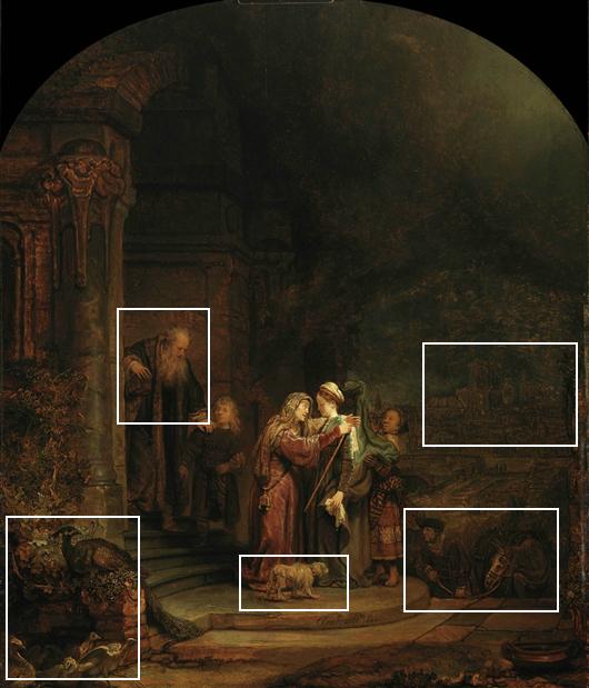 de Visitatie - Rembrandt van Rijn