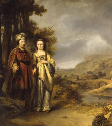 Ferdinand Bol - Echtpaar in een landschap