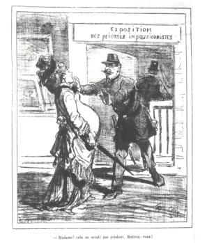 Karikatuur uit Le Charivari (1877)