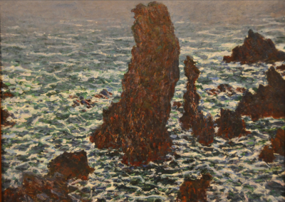 Claude Monet - Les Pyramides at Port-Coton
