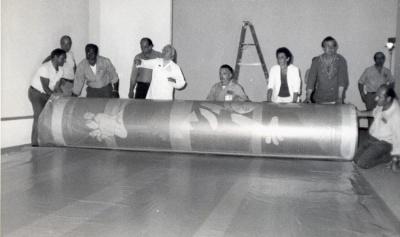 Guernica op transport vanuit het MOMA