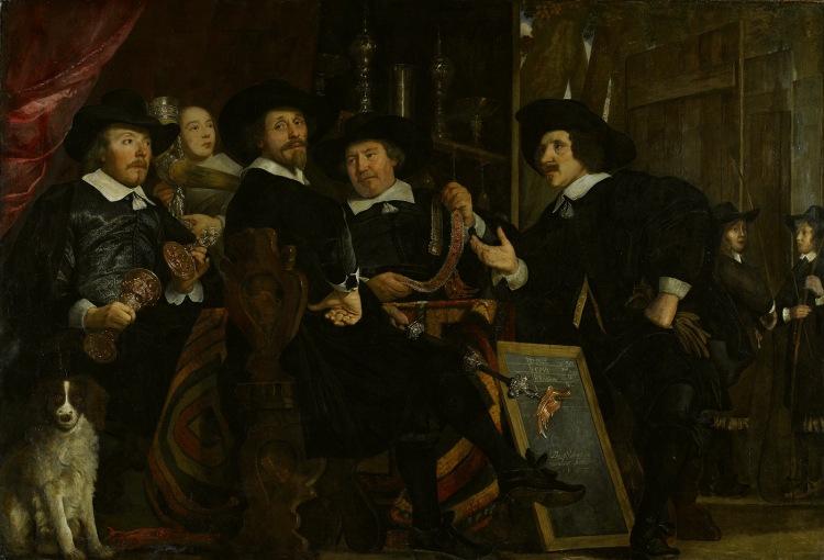 De Overlieden van de Handboogschutters - Bartholomeus van der Helst, Amsterdam Museum