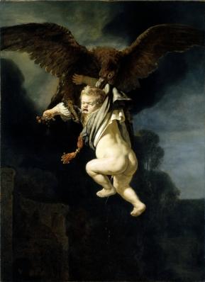 Rembrandt van Rijn - De roof van Ganymedes