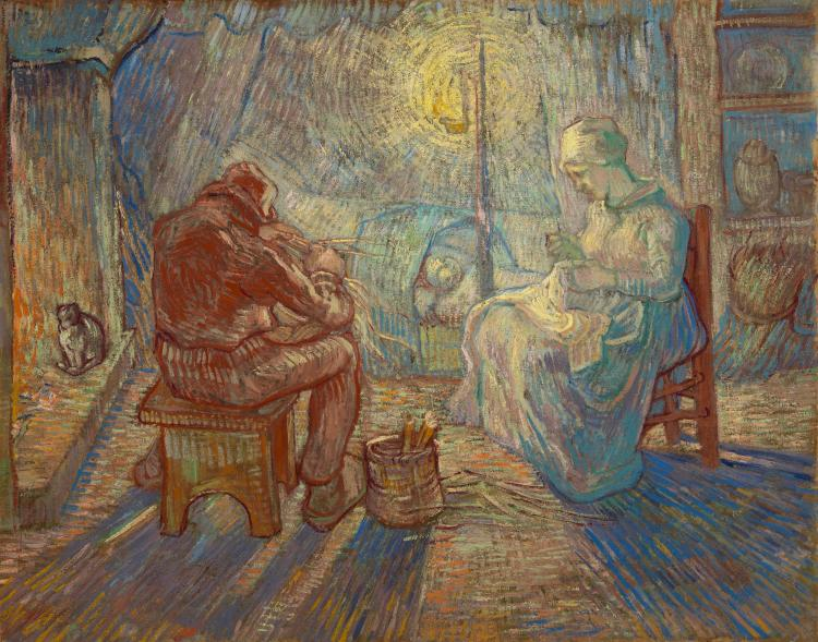 Avond (naar Millet) - Vincent van Gogh