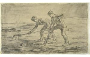 De Spitters (naar Millet) - Vincent van Gogh