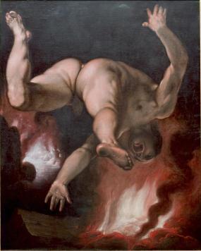 Val van Ixion - Cornelis van Haarlem