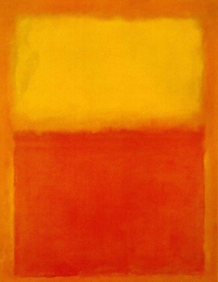 Orange and Yellow - Mark Rothko