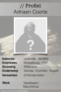 Profiel Adriaen Coorte