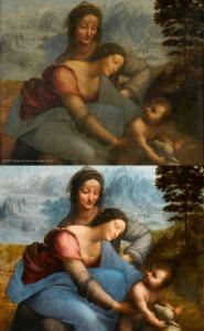 Gerestaureerde 'Maria met Kind en Sint Anna'