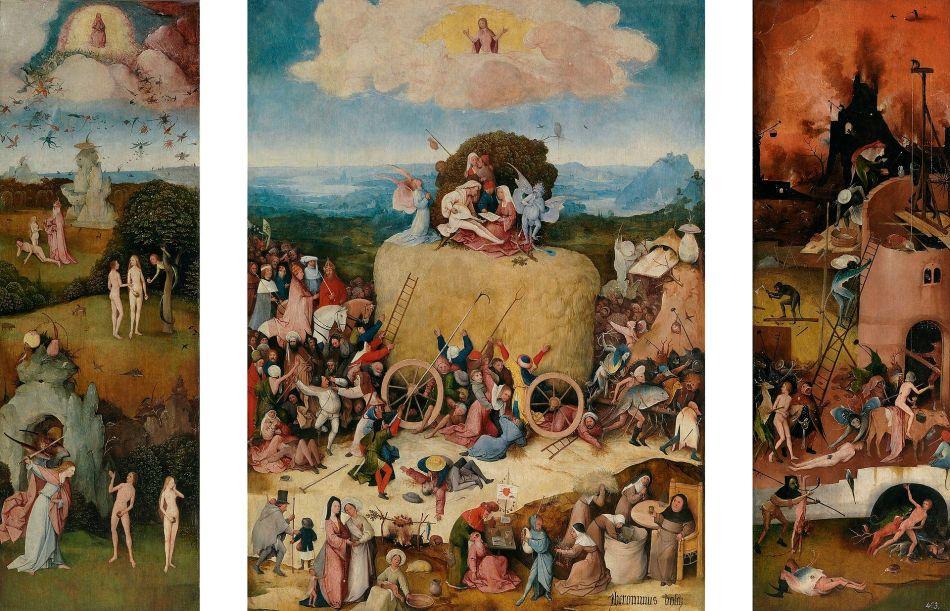 Jheronimus Bosch - Hooiwagen drieluik (Prado-versie)