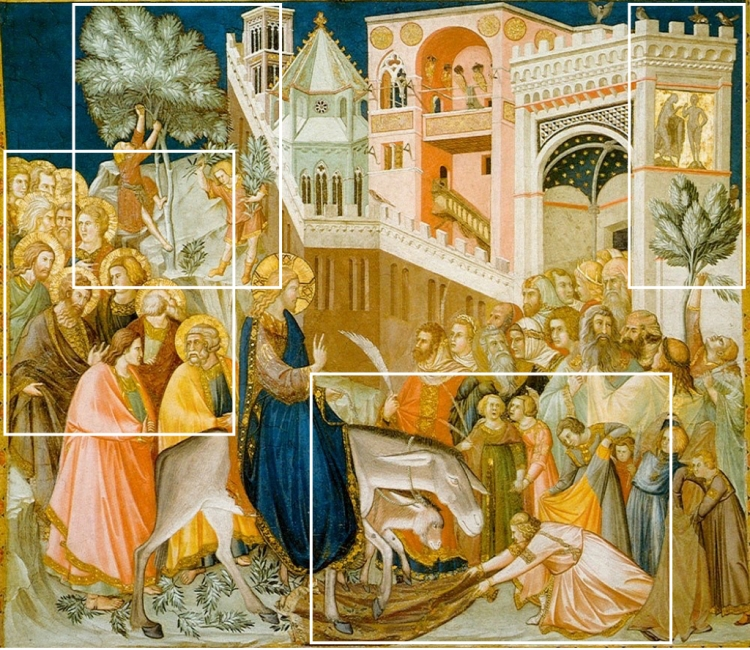 Pietro Lorenzetti - de Intocht in Jeruzalem