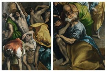 El Greco - de Tempelreiniging detail