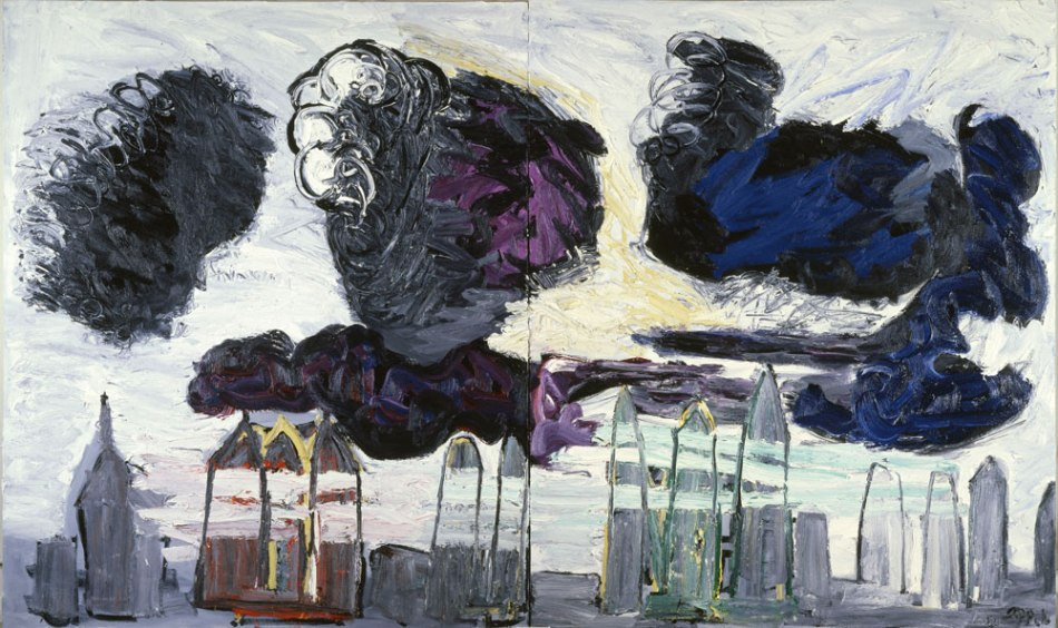 Karel Appel - Zwarte Wolken boven het Land