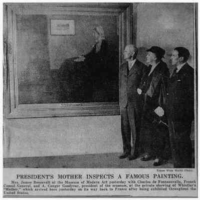 Franklin Roosevelt's Moeder bij Whistler's Mother
