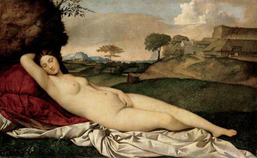 Giorgione - de Slapende Venus