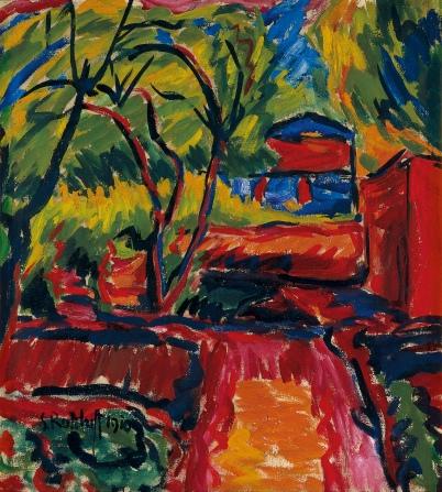 Karel Schmidt-Rottluff -Haus unter Baumen