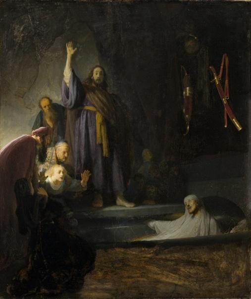 Rembrandt van Rijn - de Herrijzenis van Lazarus (1642)