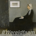 James McNeill Whistler - Whistler's Mother - Arrangement in Grey and Black