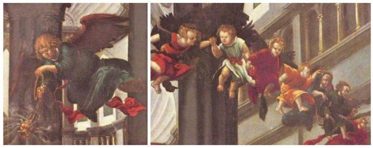Albrecht Altdorfer - de Geboorte van Maria (detail)