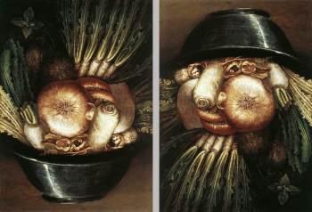 Giuseppe Arcimboldo - Groenten in een Schaal