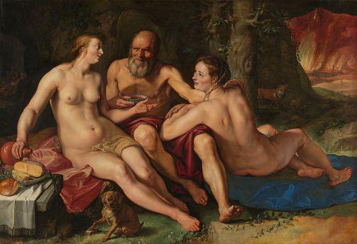Hendrick Goltzius - Lot en zijn Dochters
