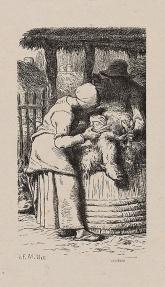 millet-womanshearingsheep