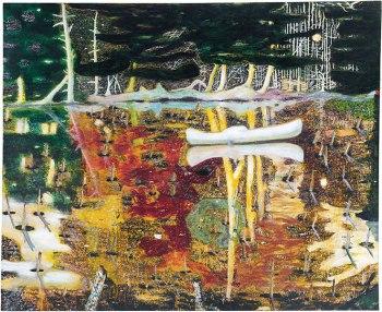 Peter Doig - Swamped (recent geveild voor 25 miljoen dollar)