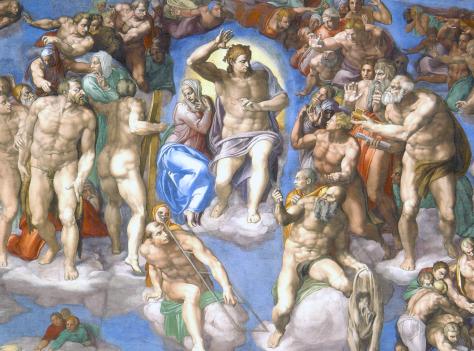 Michelangelo Buonarotti - Laatste Oordeel (detail)
