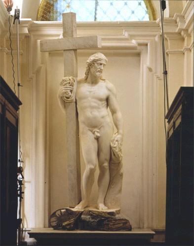 Michelangelo Buonarotti - Jezus die het kruis draagt (eerste versie)