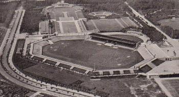 Alfred Hensel - het Stadion in Neurenberg (Goud 1928)
