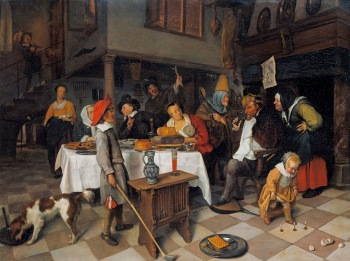 Jan Steen - het Driekoningenfeest en de Koning drinkt (Royal Collection Trust / © Hare Majesteit Koningin Elizabeth II 2016)