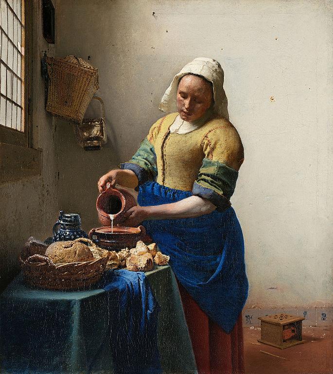 Johannes Vermeer - het Melkmeisje