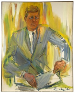 Elaine de Kooning - John F. Kennedy