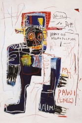 Jean-Michel Basquiat - Irony of negro policeman