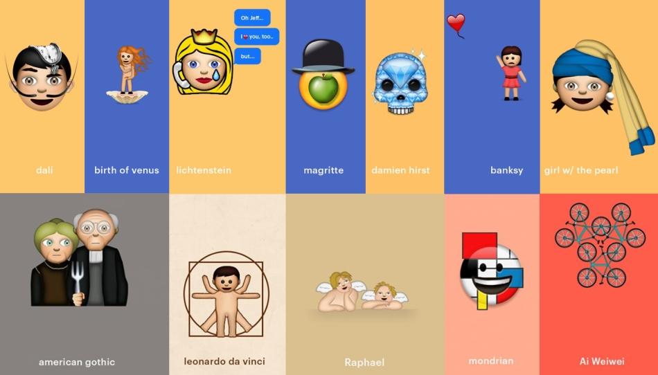 Kunst-emoji's van Cantor Fine Art (www.cantorfineart.com)