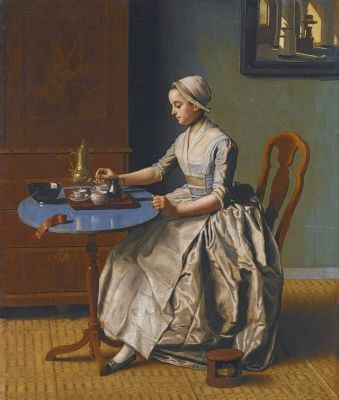 Jean-Étienne Liotard - Hollands Meisje aan het Ontbijt