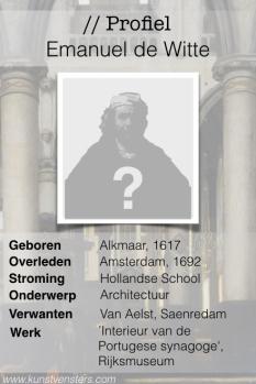 Profiel van de Gouden Eeuw - Emanuel de Witte